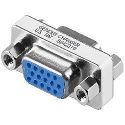ADAPTADOR SUB-D / VGA 15 PIN HEMBRA - HEMBRA