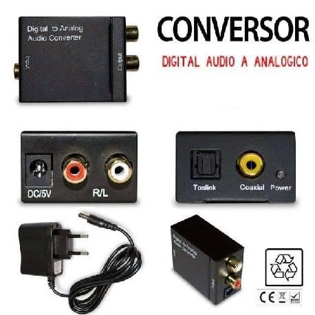 Conversor Adaptador Entrada Optica Y Coaxial Salida 2