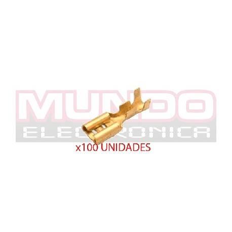 TERMINAL PLANO FASTON HEMBRA 6,3mm - 0,8mm - 100 UNIDADES