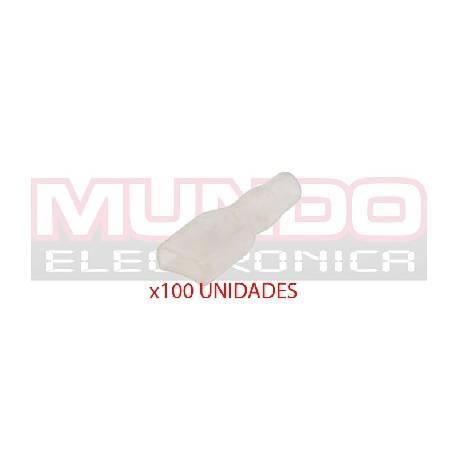 BOLSA DE FUNDA TRANSPARENTE PARA TERMINAL FASTON HEMBRA 4,8mm - 100 unidades