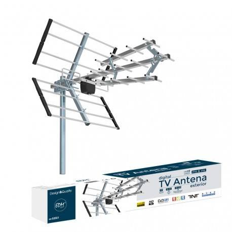 ANTENA TDT HD EDM UHF 470-790mhz - 15-20dBs - 17 ELEMENTOS - 75CM LONGITUD