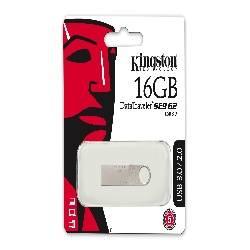 MEMORIA FLASH - PENDRIVE 16GB USB3.0 KINGSTON DT SE9 PLATA