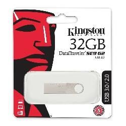 MEMORIA FLASH - PENDRIVE 32GB USB3.0 KINGSTON DT SE9 PLATA