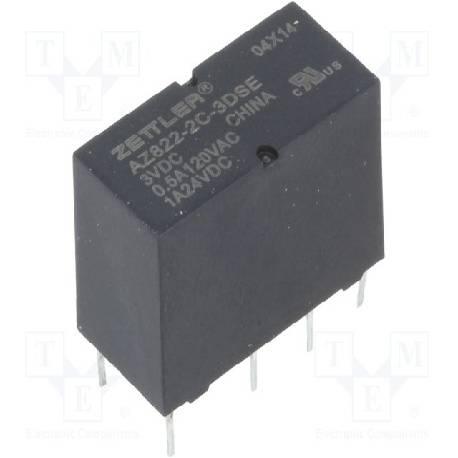 RELE ZETTLER 3 VCC / 1A - 2CTOS 6 PINES - 20x9.8x12mm