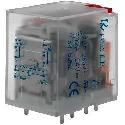 RELE ELECTROMAGNETICO DPDT 24VCC / 10A-240VCA - 28x21.5x35mm - LB2HN-24DTS