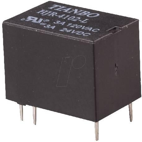 RELE TIANBO 12VDC / 3A - 1 CTO 4 PINES - 15,4X11,4X10,4mm - HJR-4102-L-12V