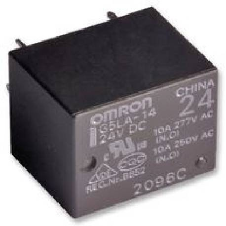 RELE ELECTROMAGNETICO OMRON SPDT 24VDC / 10A - 250VCA 1Cto - 19.8x15.8x15.8mm