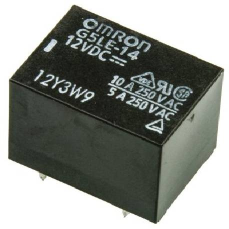 RELE ELECTROMAGNETICO OMRON SPDT 12VDC / 10A - 250VCA 1Cto - 22.5x16.5x19mm