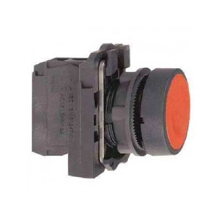 PULSADOR DE PRESION SCHNEIDER - 1 POSICION NC - 240VAC - 3A - DIAMT. 22mm - IP66 - ROJO
