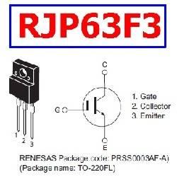 TRANSISTOR IGBT RJP63F3 630V - 40A 30W - TO-220FL
