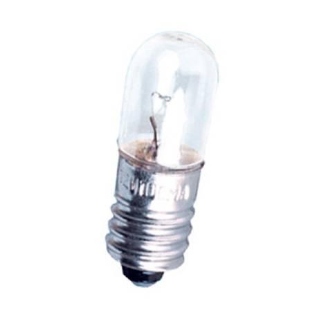 LAMPARA FILAMENTO 12V - 1.2W - E10 CILINDRICA 10X28mm