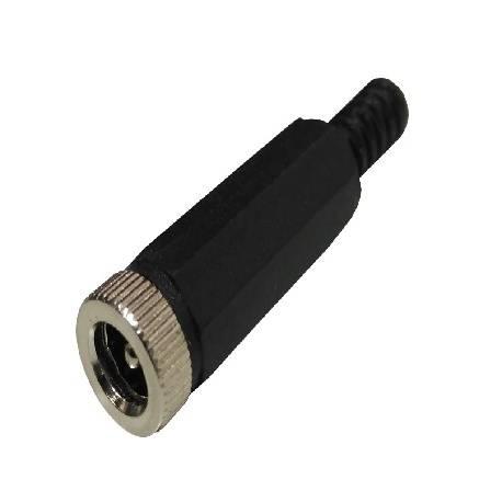CONECTOR JACK ALIMENTACION MACHO 5,5x2,5mm - AEREO - SOLDAR