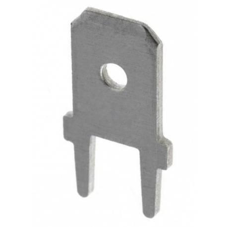 TERMINAL PLANO FASTON MACHO 6,3mm / 0,8mm - PARA PCB - RECTO - 1 UNIDAD