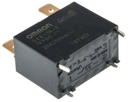 RELE ELECTROMAGNETICO OMRON 12VDC - 20A - 30.5x23.5x16mm (PLACAS AIRE ACON) - G4A-1A-E