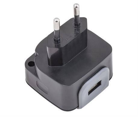 ALIMENTADOR - CARGADOR RED 100-230VCA a USB - 5V 2400mAh - NEGRO
