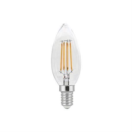 LAMPARA LED FILAMENTO C37 VELA - ROSCA E14 - 4W - 2700K - LUZ CALIDA - DECORATIVA