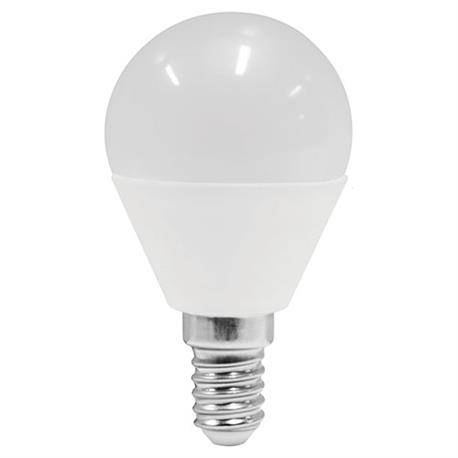 LAMPARA LED PLASTICO - ALUMINIO G45 ESFERICA - ROSCA E14 - 6W - 5000K - LUZ FRIA