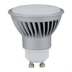 LAMPARA LED DICROICA ALUMINIO - GU10 - 7W - 3000K - LUZ CALIDA