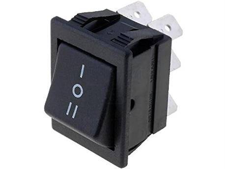 INTERRUPTOR BASCULANTE DP3T - 16A 250VAC - 3 POSICIONES - ON-OFF-ON - NEGRO