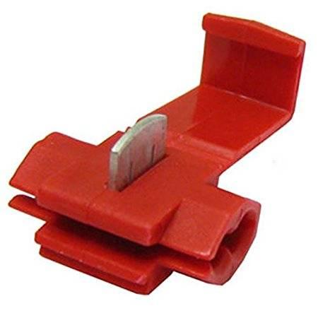CONECTOR ENCHUFE RAPIDO PARA CABLE DE 0,5mm a 1,5mm - UNION CABLES POR PRESION - ROJO
