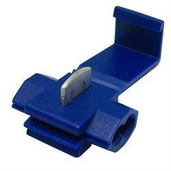 CONECTOR ENCHUFE RAPIDO PARA CABLE DE 1,5mm a 2,5mm - UNION CABLES POR PRESION - AZUL