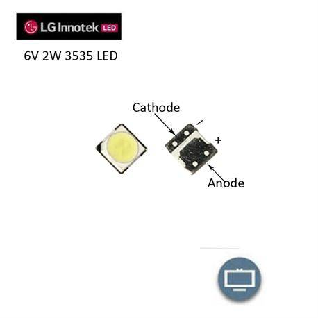 LED SMD 3535 BLANCO 6V 500mA - 2W - 3,5x3,5x0,65mm - REPARACION BACKLIGHT LG INNOTEK