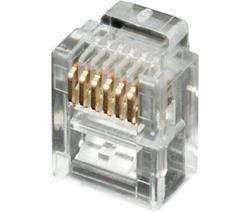 CONECTOR MODULAR TELEFONICO RJ12 6V / 6C - TRANSPARENTE - 1 UNIDAD