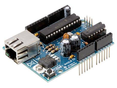 MODULO - SHIELD ETHERNET - PARA ARDUINO UNO R3 - CONTROLADOR RED PROGRAMABLE