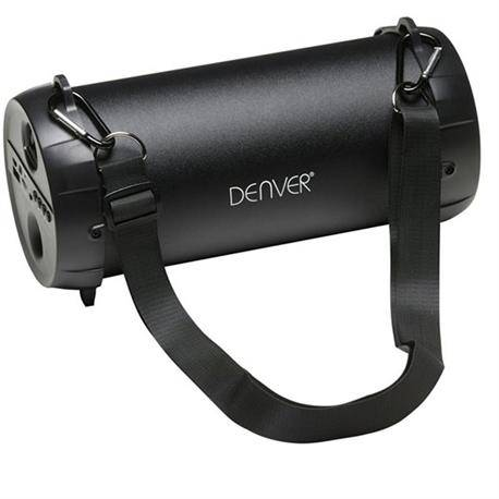 ALTAVOZ BLUETOOTH DENVER - HORIZONTAL 5W - RADIO FM / USB - SD / AUX - NEGRO - 2200mAH
