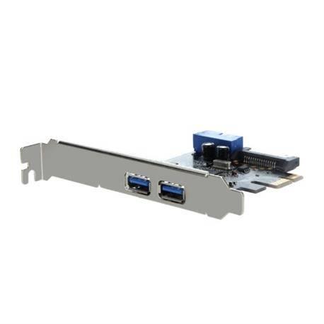 TARJETA CONTROLADORA USB 3.0 PCI-E - 2 PUERTOS + CONECTOR USB 3.0 INTERNO - ALIMENTACION SATA