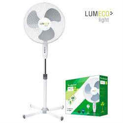 VENTILADOR DE PIE EDM 55W - 40CM DIAMETRO - ALTURA HASTA 120CM REGULABLE - BLANCO