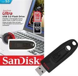 MEMORIA FLASH - PENDRIVE 16GB USB3.0 SANDISK CRUZER ULTRA - NEGRO