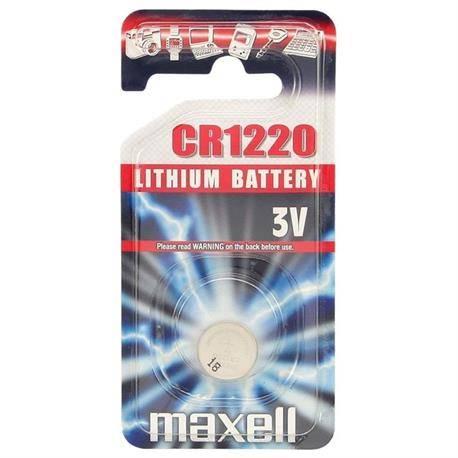 PILA DE LITIO MAXELL CR1220 - 3V - 38mAH - BOTON