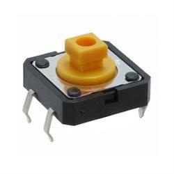 MICRO PULSADOR OMRON 4 PIN - 12x12x7,3mm - CON BASTAGO CUADRADO - PARA PCB