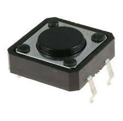 MICRO PULSADOR SX 4 PIN - 12x12x4,3mm - BOTON REDONDO - PARA PCB