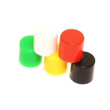 BOTON PARA MICRO PULSADORES DE TACTO 6x6mm CON BASTAGO - DIAMETRO 3,3mm - ROJO