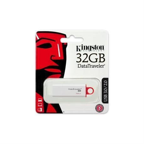 MEMORIA FLASH KINGSTON - PENDRIVE 32GB - USB3.0 USB 3.1 - BLANCO - DTIG4/16GB