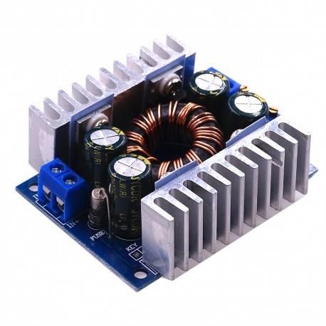 CONVERTIDOR DC-DC Y CORRIENTE AJUSTABLE - ELEVADOR REDUCTOR ENTRADA 5-30VDC - SALIDA 1.25-30VDC - 8 AMP