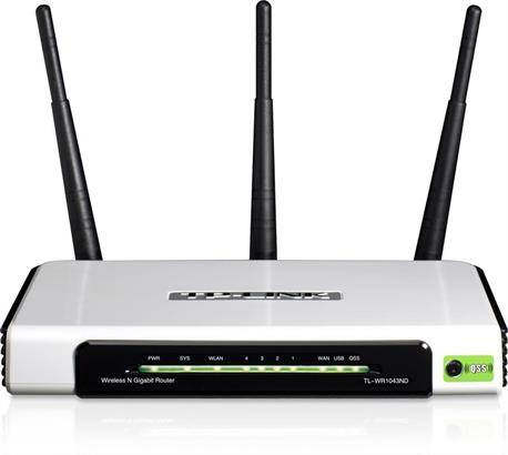 ROUTER TP-LINK - 450mbps - 4 PTOS RJ45 10/100/1000 - WIRELESS N - USB HOST - OCASION