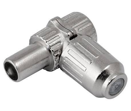 CONECTOR PROFESIONAL DE ANTENA TV - MACHO - 9,5mm - METALICO