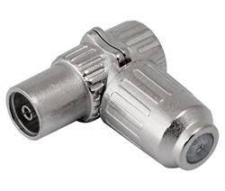 CONECTOR PROFESIONAL DE ANTENA TV - HEMBRA - 9,5mm - METALICO