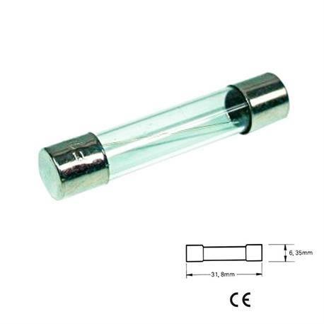 FUSIBLE 6x32 - RAPIDO - 500mA - CRISTAL