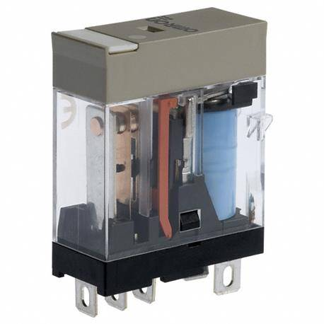 RELE ELECTROMAGNETICO OMRON 230AC - 10A - 29x13x35.5mm - CONTACTOS FASTON 4,75mm