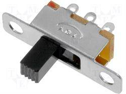INTERRUPTOR DESLIZANTE - 2 POSICIONES - 0,5A 24VDC - ON ON - TECLA DE 7mm