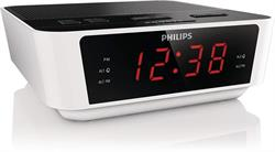 RADIO DESPERTADOR PHILIPS - FM - DISPLAY LED - ALARMA SLEEP SNOOZE - CON TEMPORIZADOR - BLANCO