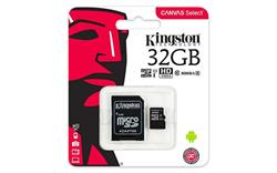 MEMORIA MICRO SD UHS-I 32GB KINGSTON - CL10 - CON ADAPTADOR A SD - HD VIDEO