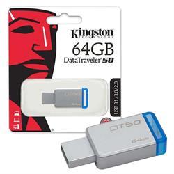 MEMORIA FLASH KINGSTON - PENDRIVE 64GB - USB 2.0 3.0 3.1 - METAL