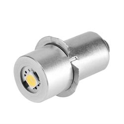 LAMPARA - BOMBILLA LED 1W - CASQUILLO P13.5S - VOLTAJE DE 4 a 6VDC - LINTERNAS, VARIOS