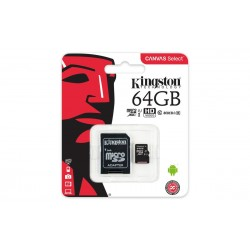 MEMORIA MICRO SD UHS-I 16GB KINGSTON - CL10 - CON ADAPTADOR A SD - HD VIDEO