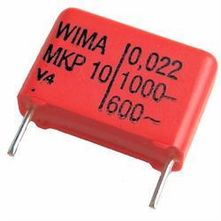 CONDENSADOR POLIPROPILENO WIMA 220NF / 1000VCC - RASTER 27,5mm - PATILLAS 6mm - 31x11x20mm